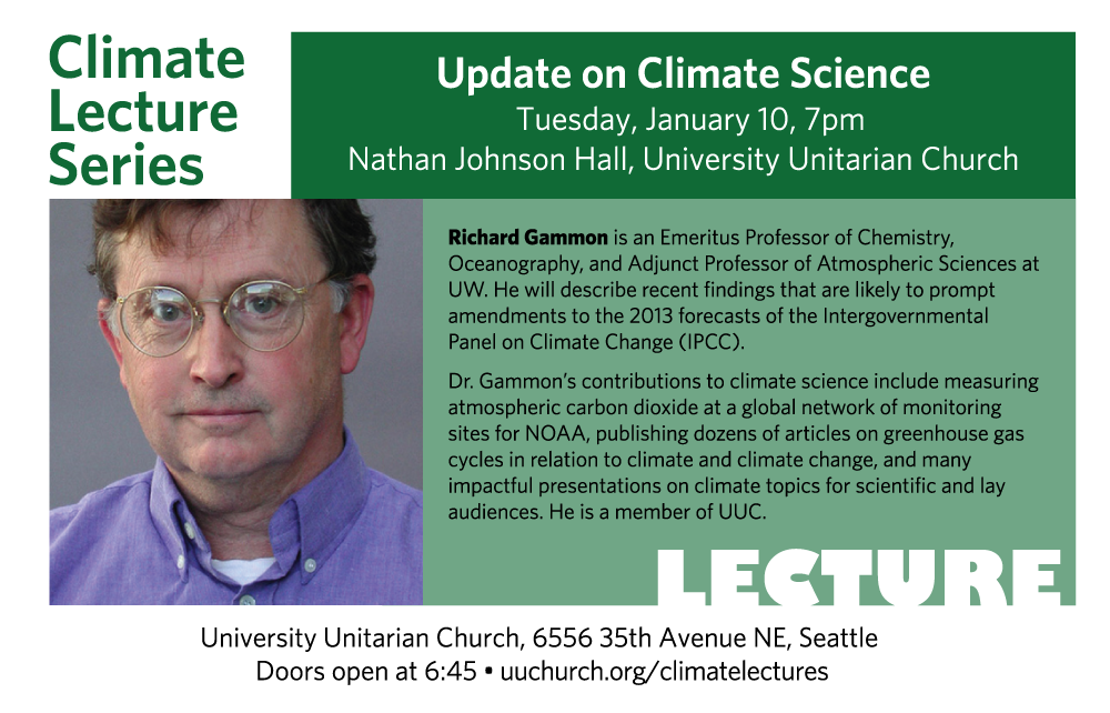 Flyer for January 10, 2017 lecture: Richard Gammon