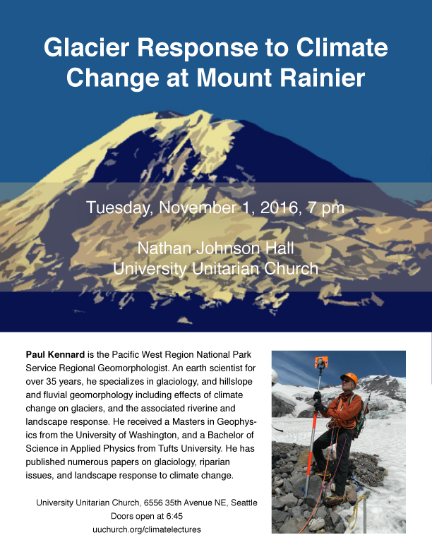 Nov 1, 2016 Paul Kennard Climate Action lecture